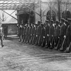 Japanese general reviewing military and civil officials in the city of Tianjin 天津.