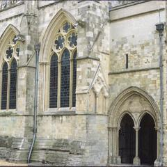 Chichester Cathedral exterior north porch
