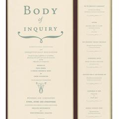Body of inquiry : a triptych opening to a corporeal codex