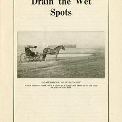 Drain the wet spots