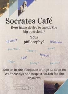 Socrates Café poster, Janesville, 2016