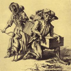 Clothed Capuchins Print