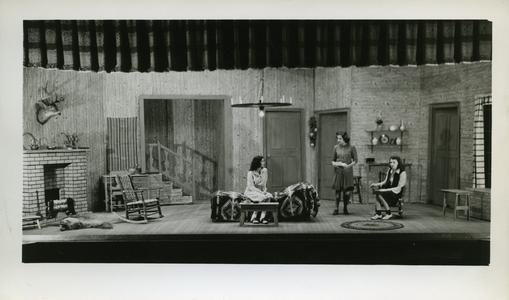 """Alpha Psi Omega Stout Institute Homecoming play, """"Nine Girls,"""" directed by Marceline Erickson"""