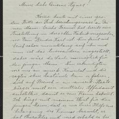 [Letter from Traute Purtak to Agnes Sternberger Husting, September 1, 1923]