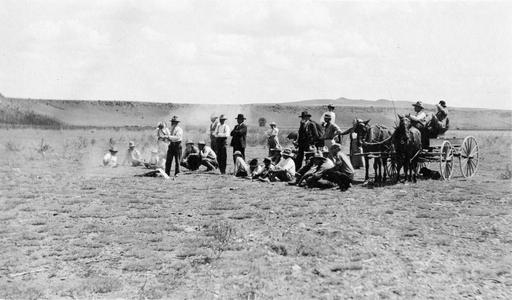 Aldo Leopold at Apache National Forest Ranger shooting match