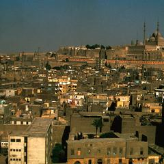 View of Cairo including the Citadel (1176 A.D.) and Muhammad Ali Mosque (1830-1857 A.D.)
