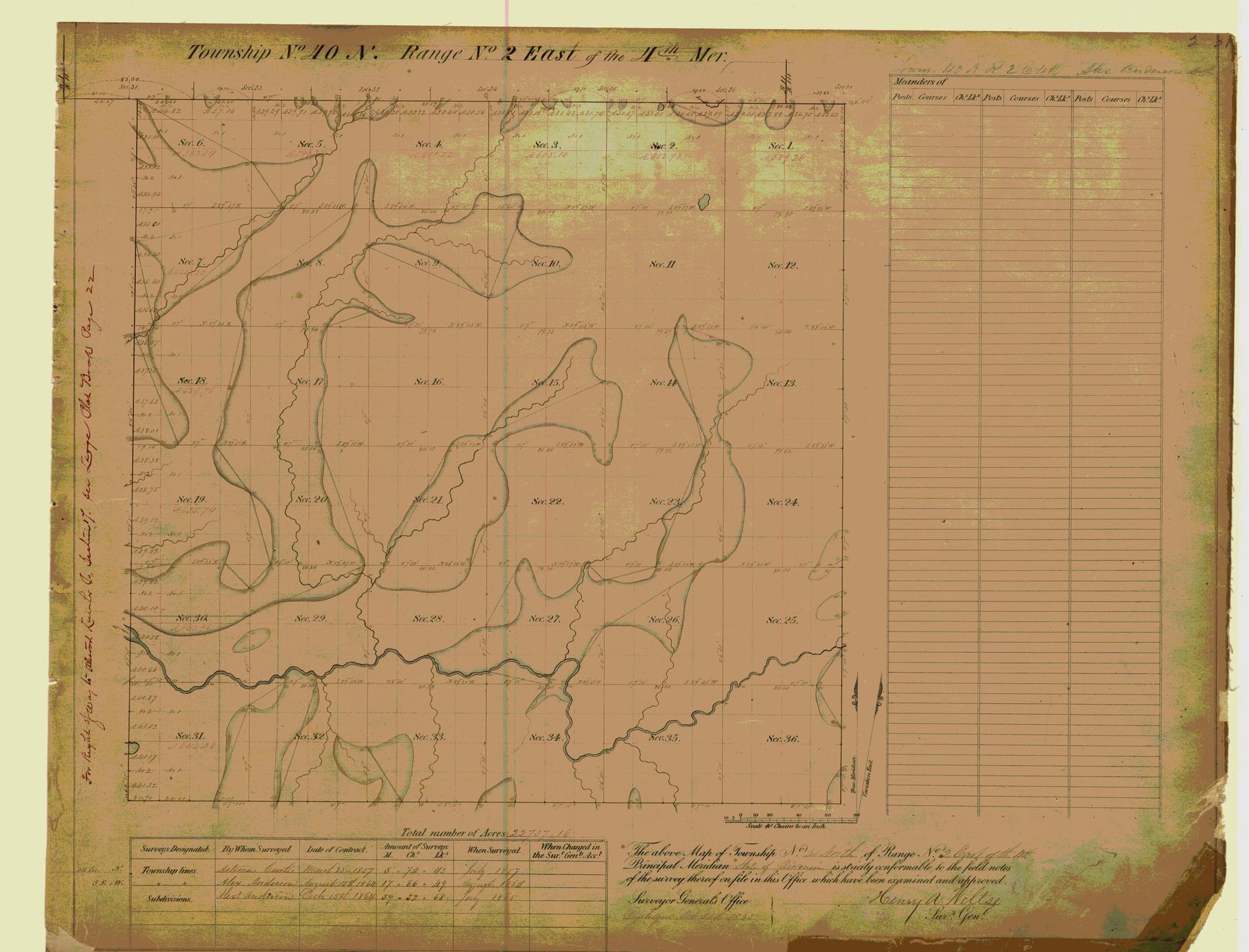 [Public Land Survey System map: Wisconsin Township 40 North, Range 02 East]