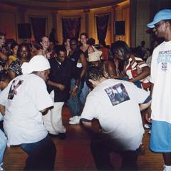 Students dancing at 2002 MCOR