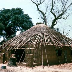 Newly Built House with Straw Roof to be Completed