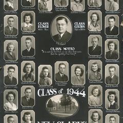 1944 New Glarus High School graduating class