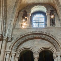 Durham Cathedral nave gallery and clerestory