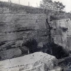 Fault in quarry