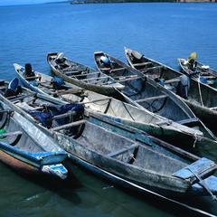 Fishing Boats at Tendaba Pier