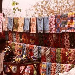 Textiles for Sale in Goma Market
