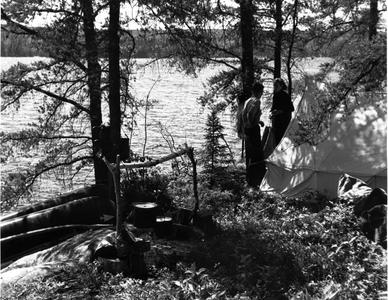 Nina Leopold and Bergere Kenney at Quetico camp