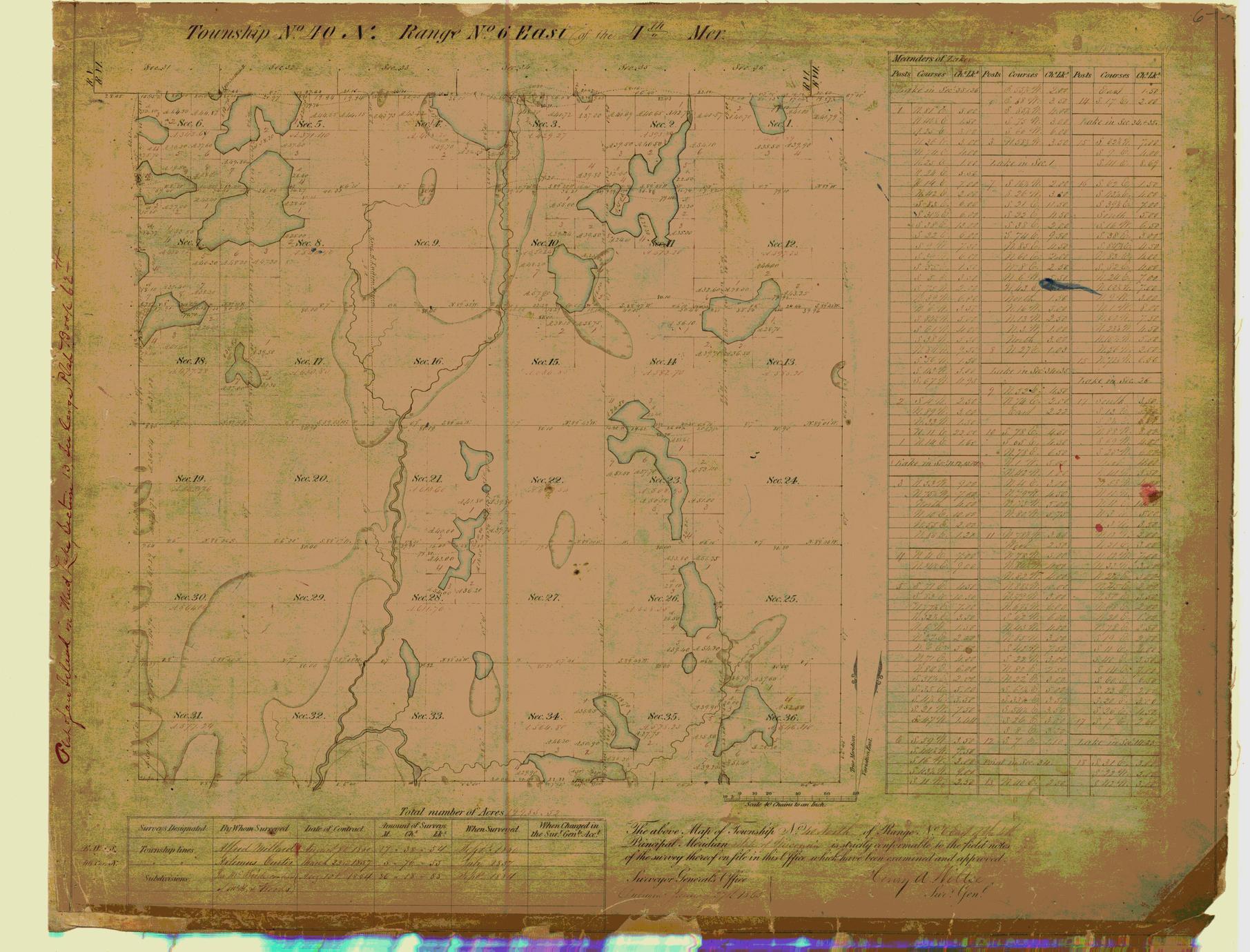 [Public Land Survey System map: Wisconsin Township 40 North, Range 06 East]