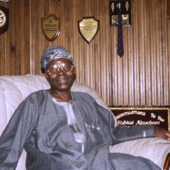 Oba Oladele Olashore on couch
