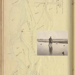 Lower Tome Point, New Mexico, journal page with map and inset photo, January 1921