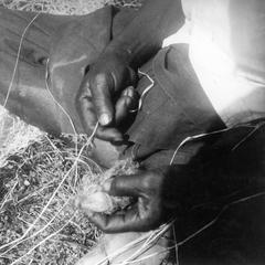 Preparing Knotted Warp Threads