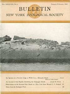 Bulletin (New York Zoological Society), Vol. XXXVIII, No. 1 (Jan/Feb 1935)