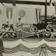 "American Brass Company receives the Army-Navy ""E"" Award"