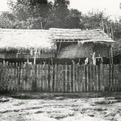 Traditional spirit house in a White Lahu (Lahu Hpu) village in Houa Khong Province