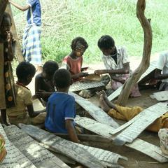 Students Doing Lessons in Koranic School