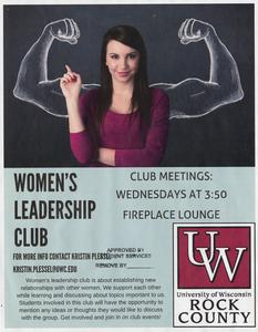 Women's Leadership Club Flyer, Janesville, 2016