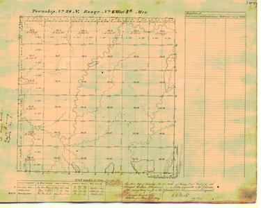[Public Land Survey System map: Wisconsin Township 28 North, Range 06 West]