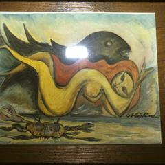 Title Unknown, painting by Newton Carocanti