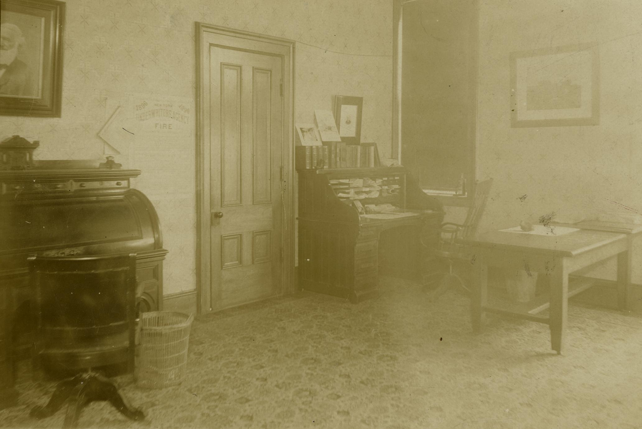Zalmon G. Simmons' first office