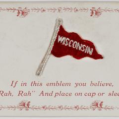 'Rah Rah' emblem postcard