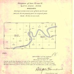 [Public Land Survey System map: Wisconsin Township 17 North, Range 12 East]
