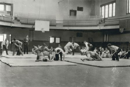 Wrestling class with Hans Reuter