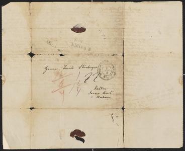 [Letter from C. Leiste to Jakob Sternberger, April 3, 1849]