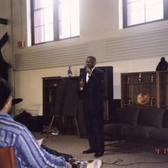 Charles Holley speaks at 10th anniversary celebration of the Multicultural Student Center