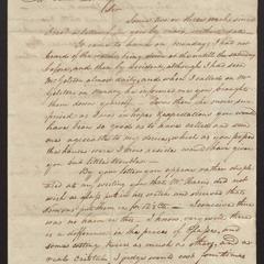 Letter from H.P. Dering, Sag Harbor, Dec. 5, 1821