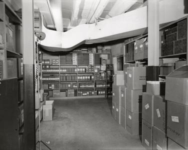 Files in hallways of Bascom Hall