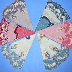 Six round handkerchiefs