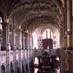 Interior view of church