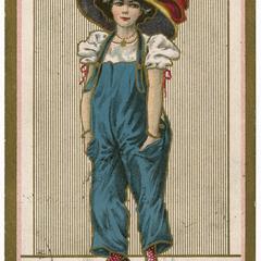 Pantalette suffragette, Suffragette Series no.3 postcard