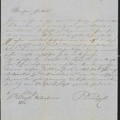[Letter from Peter Prinzl to Jakob Sternberger, July 20, 1853]