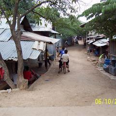 Street and housing scene