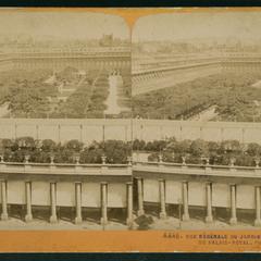 Vue générale du jardin et des galeries du Palais-Royal, Paris