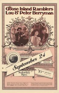 Goose Island Ramblers concert poster, 1994