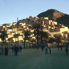 Residents Strolling in Djanet at Sunset