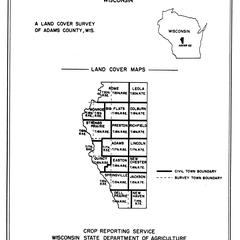Adams County, Wisconsin : a land cover survey of Adams County, Wis.