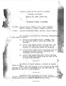 Edward Asahel Birge (1921-1925) : Minutes of the University of Wisconsin Board of Regents