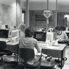 Computer users at Memorial Library