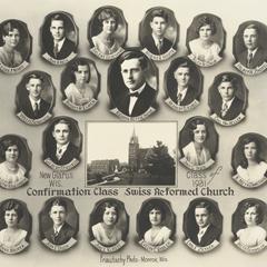 1931 Swiss Reformed Church confirmation class